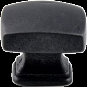 5237 Small Town Collection Antique Iron Black 30mm Rectangle Knob