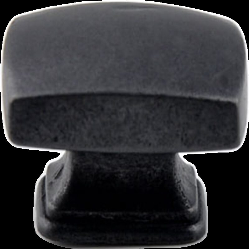 Small Town Collection Antique Iron Black 30mm Rectangle Knob