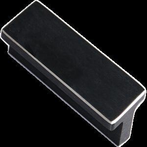 Kassina Brushed Matt Black with Aluminium Highlight 64mm Rectangle T Handle