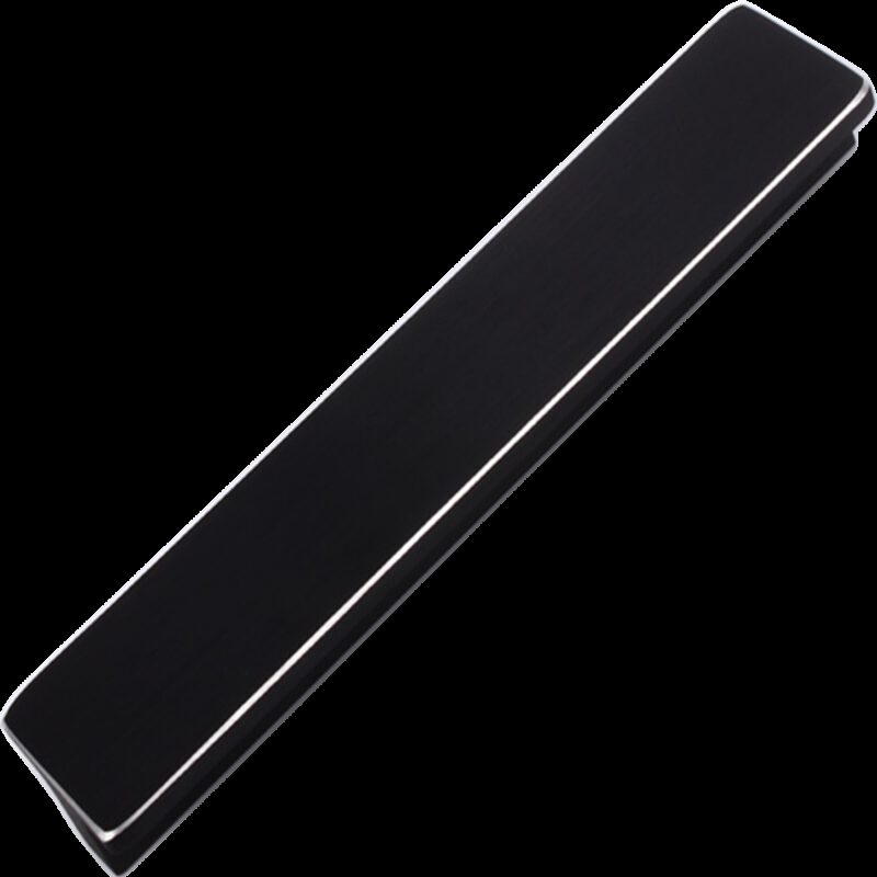 5251 Kassina Brushed Matt Black With Aluminium Highlight 160mm Rectangle T Handle