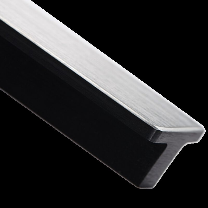 5252 Kassina Brushed Matt Black With Aluminium Highlight 160mm Rectangle T Handle