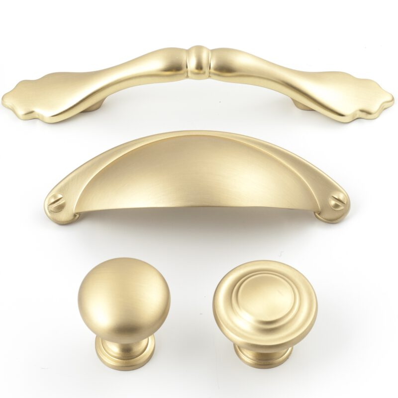 Castella Heritage Shaker Brushed Gold 64mm Cup Pull