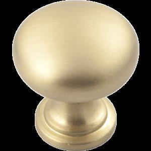Castella Heritage Shaker Brushed Gold 30mm Round Mushroom Knob