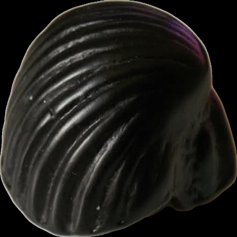 5306 Coquille Antique Shell Matte Black 49mm Cup Pull Knob