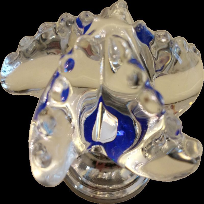 Mediterranean Cute Clear Crystal with Blue Flashes 47mm Starfish Shaped Knob