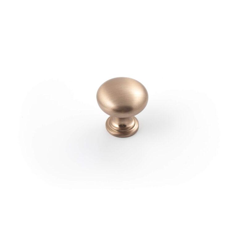 Castella Heritage Shaker Brushed Rose Gold 30mm Round Mushroom Knob 50 030 033 1