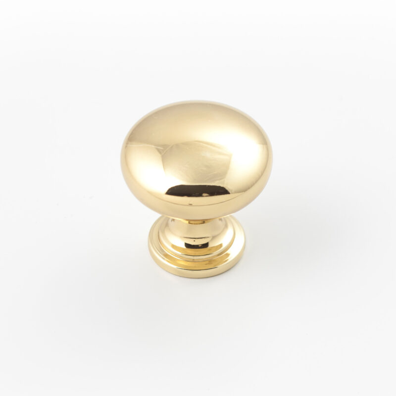 Castella Heritage Shaker Polished Gold 30mm Round Mushroom Knob 50 030 008 1 Scaled