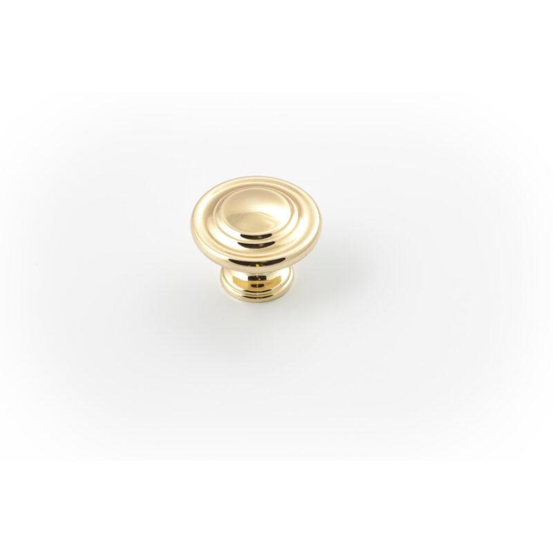 Castella Heritage Shaker Polished Gold 34mm Fluted Round Knob 56 034 008 1
