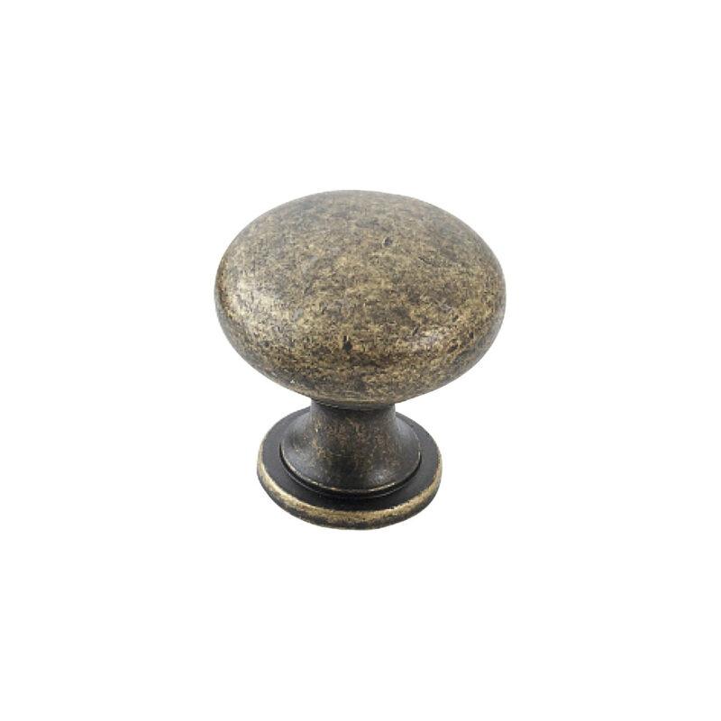Furnware Dorset Florencia Shaker Antique Brass 29mm Plain Round Knob Dst Ctmk Ab 1