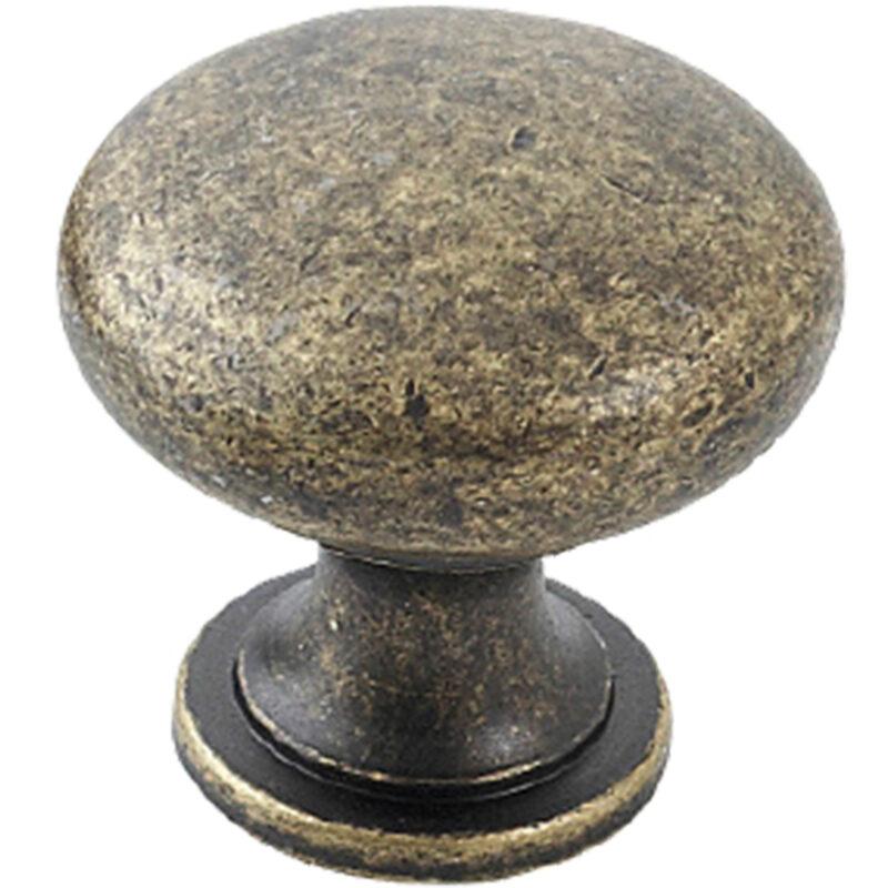Furnware Dorset Florencia Shaker Antique Brass 29mm Plain Round Knob Dst Ctmk Ab