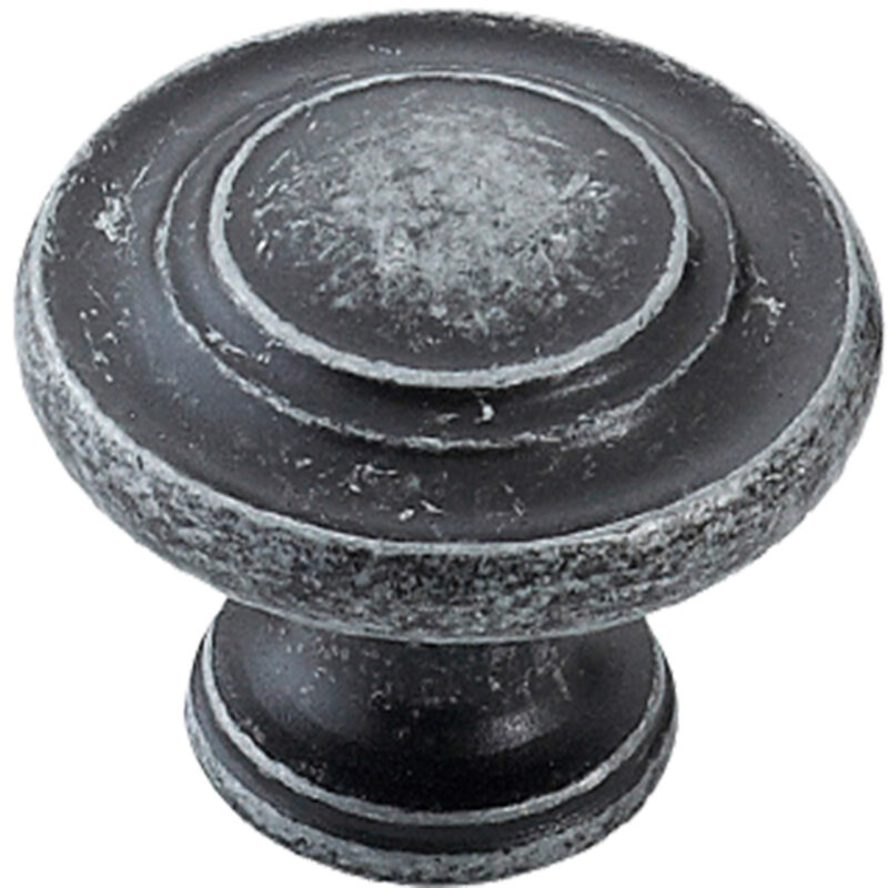 Furnware Dorset Florencia Shaker Charcoal 33mm Concentric Fluted Knob Dst Ctck Ch 2