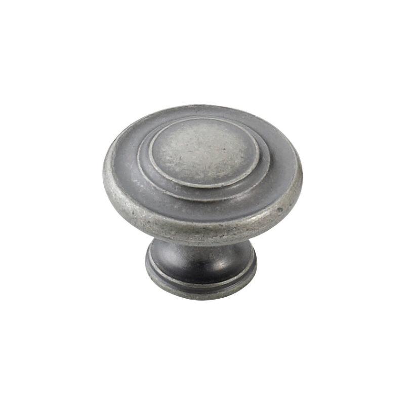 Furnware Dorset Florencia Shaker European Pewter 33mm Concentric Fluted Knob Dst Ctck Epw 1