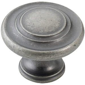 Furnware Dorset Florencia Shaker European Pewter 33mm Concentric Fluted Knob Dst Ctck Epw