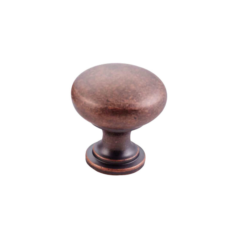 Furnware Dorset Florencia Shaker Antique Copper 29mm Plain Round Knob Dst Ctmk Ac 1