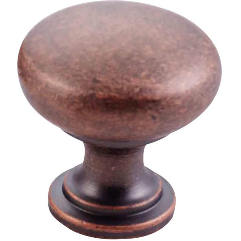 Furnware Dorset Florencia Shaker Antique Copper 29mm Plain Round Knob Dst Ctmk Ac