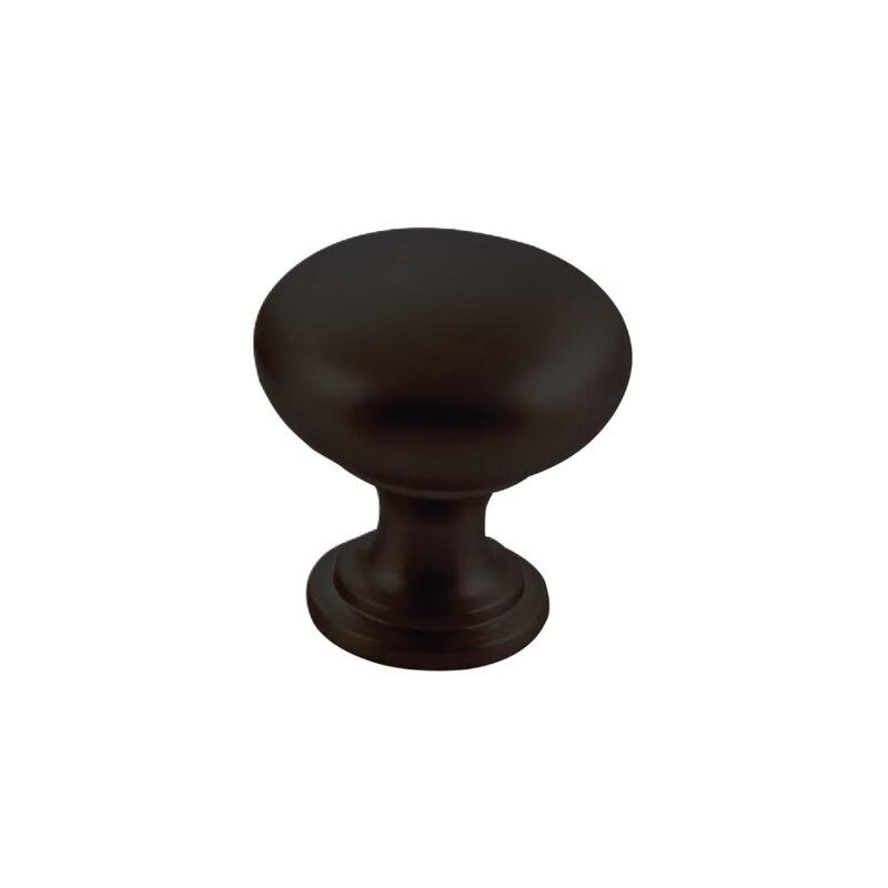 Furnware Dorset Florencia Shaker Matt Black 29mm Plain Round Knob Dst Ctmk Mbl 1