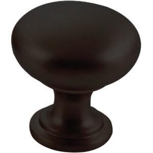 Furnware Dorset Florencia Shaker Matt Black 29mm Plain Round Knob Dst Ctmk Mbl