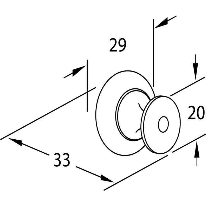 Furnware Dorset Florencia Shaker Matt Black 29mm Plain Round Knob Dst Ctmk Mbl Diagram