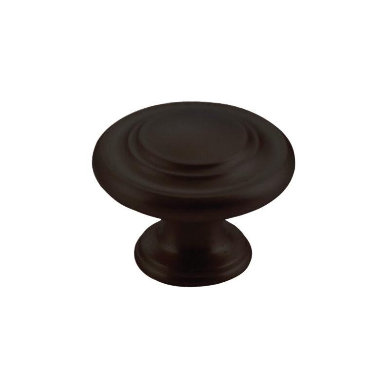 Furnware Dorset Florencia Shaker Matt Black 33mm Concentric Fluted Knob Dst Ctck Mbl 1