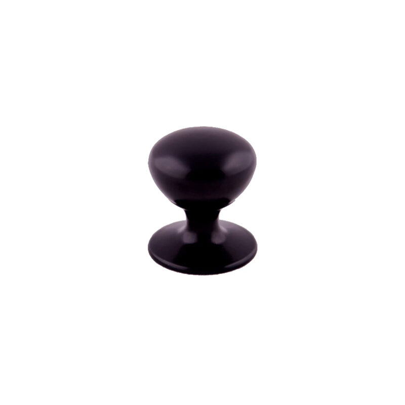 Furnware Dorset Hampton Collection Matt Black 32mm Round Knob With Base Dst Hmk032 Mbl 1