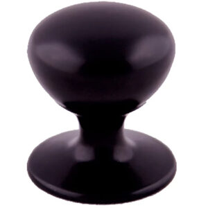 Furnware Dorset Hampton Collection Matt Black 32mm Round Knob With Base Dst Hmk032 Mbl