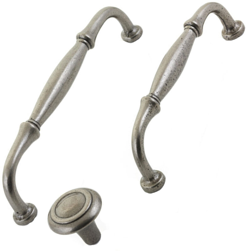 Furnware Dorset Winchester Collection Pewter Cast Iron Handles Knobs Hn3984 Pw Multi
