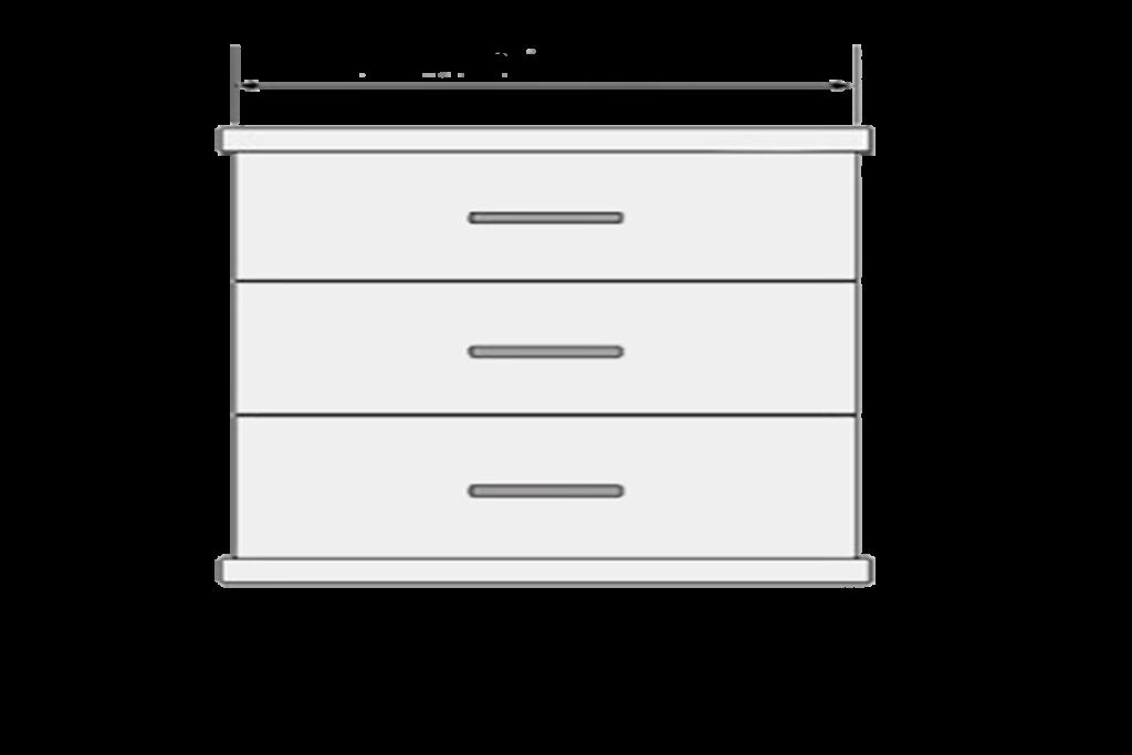 Handle Measurements Large 400mm Drawer