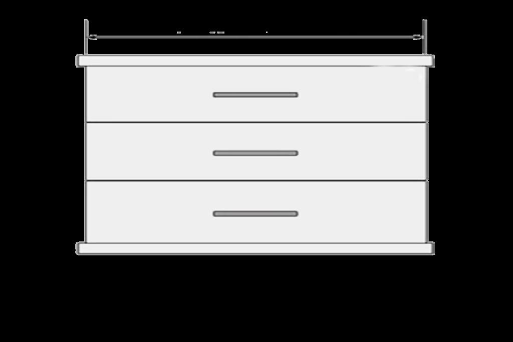 Handle Measurements Large 600mm Drawer