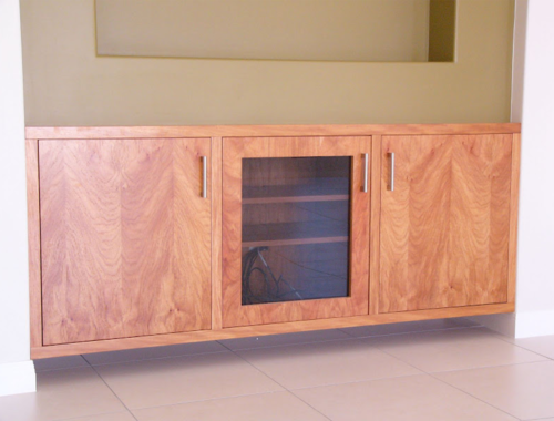 Media Cabinet Using Castella Contemporary Satin Stainless Steel Handle 48 128 07