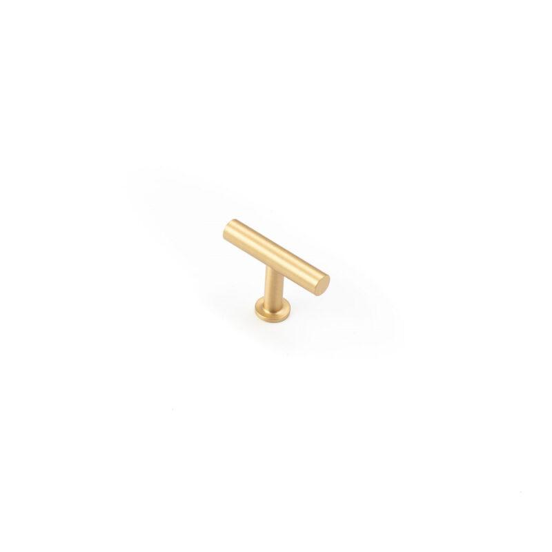 Castella Statement Stirling Satin Brass T Knob 220 050 35 1