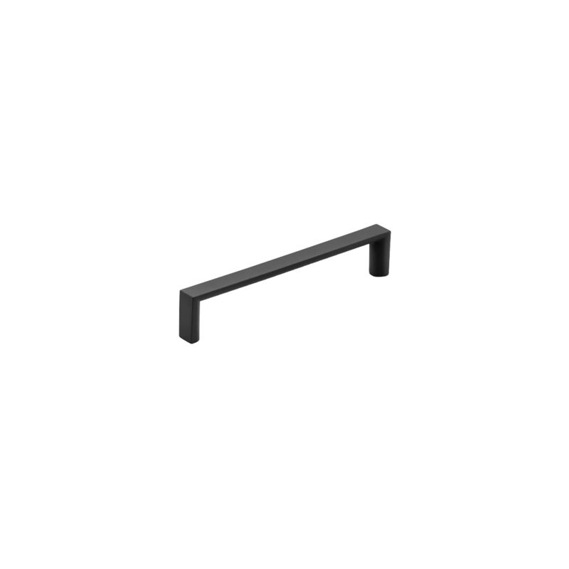 Furnware Dorset Dallas Collection Matt Black 128mm Square D Pull Handle Dst Fdh128 Mbl2