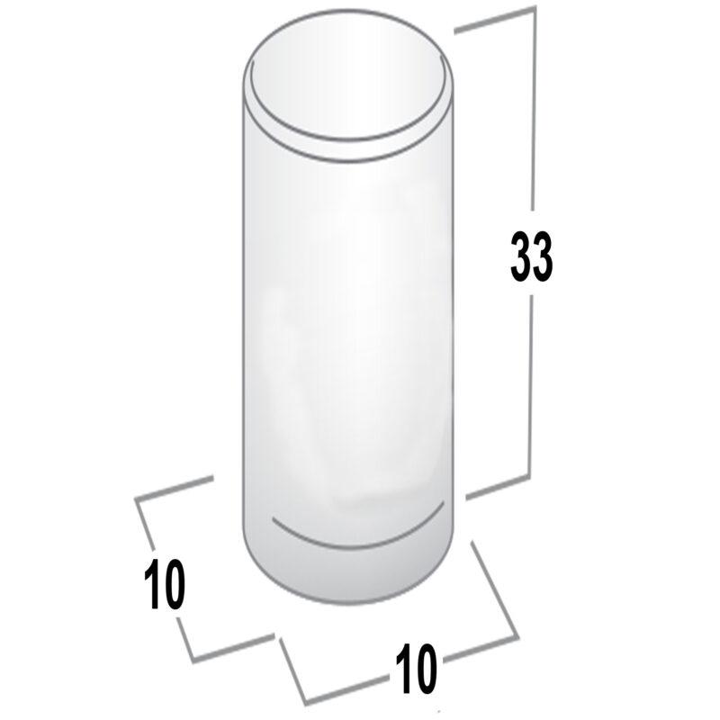 Furnware Graf 10mm Dull Brushed Nickel Cylinder Knob Dst G0430 010 Bdr Fg Diagram